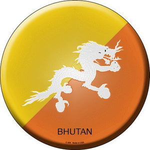 Bhutan Country Novelty Metal Circular Sign
