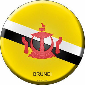 Brunei Country Novelty Metal Circular Sign