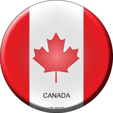 Canada Country Novelty Metal Circular Sign