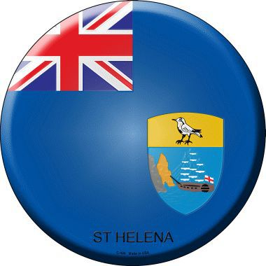 St Helena Country Novelty Metal Circular Sign