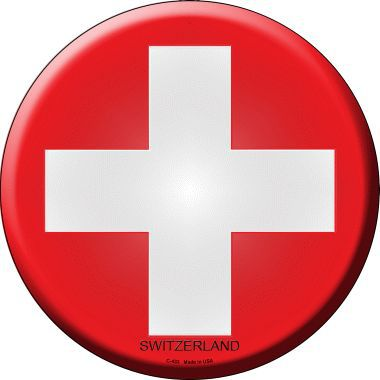 Switzerland Country Novelty Metal Circular Sign