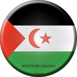 Western Sahara Country Novelty Metal Circular Sign
