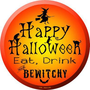 Happy Halloween Novelty Metal Circular Sign