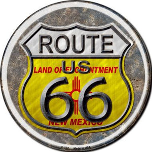New Mexico Route 66 Novelty Metal Circular Sign