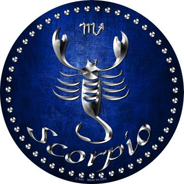 Scorpio Novelty Metal Circular Sign
