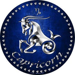 Capricorn Novelty Metal Circular Sign