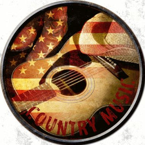 Country Music Novelty Metal Circular Sign
