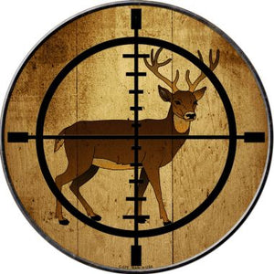 Deer Hunter Novelty Metal Circular Sign