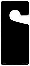 Black Solid Blank Novelty Metal Door Hanger