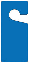 Blue Solid Blank Novelty Metal Door Hanger