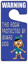 Protected By Guard Dog Novelty Metal Door Hanger DH-048