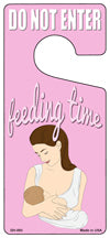 Feeding Time Pink Novelty Metal Door Hanger DH-093