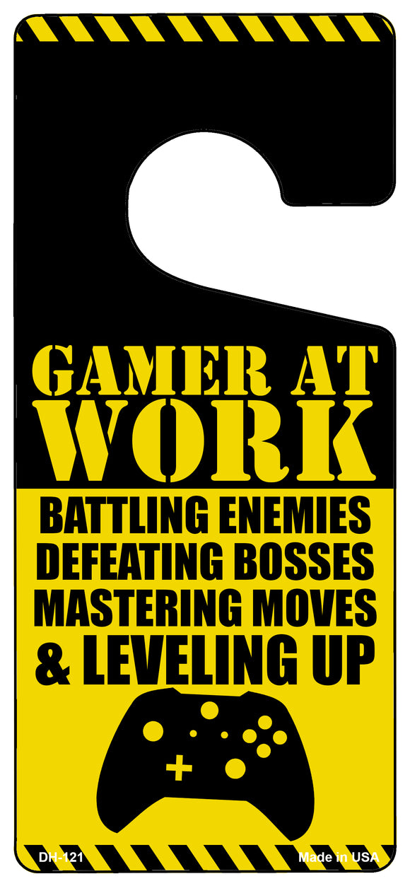 Gamer At Work Console Novelty Metal Door Hanger