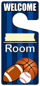 Blank Room Blue Novelty Metal Door Hanger