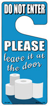 Leave It At The Door Novelty Metal Door Hanger DH-266