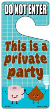 Private Party Novelty Metal Door Hanger DH-267
