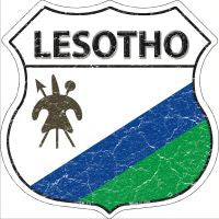 Lesotho Highway Shield Novelty Metal Magnet HSM-311