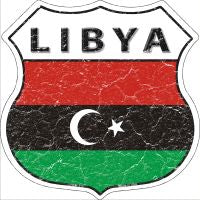 Libya Highway Shield Novelty Metal Magnet HSM-313