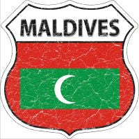 Maldives Highway Shield Novelty Metal Magnet HSM-323