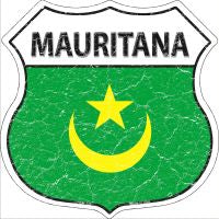 Mauritana Highway Shield Novelty Metal Magnet HSM-329