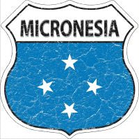 Micronesia Highway Shield Novelty Metal Magnet HSM-333