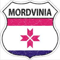 Mordvinia Highway Shield Novelty Metal Magnet HSM-339
