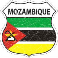 Mozambique Highway Shield Novelty Metal Magnet HSM-341