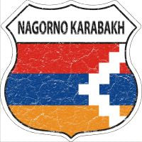 Nagorno Karabakh Highway Shield Novelty Metal Magnet HSM-343