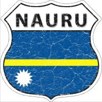 Nauru Highway Shield Novelty Metal Magnet HSM-345
