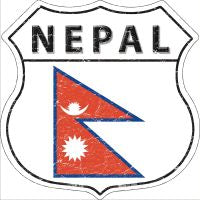 Nepal Highway Shield Novelty Metal Magnet HSM-346