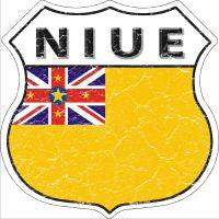 Niue Highway Shield Novelty Metal Magnet HSM-354