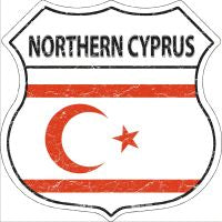 Northern Cyprus Highway Shield Novelty Metal Magnet HSM-356