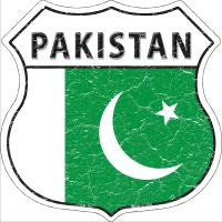 Pakistan Highway Shield Novelty Metal Magnet HSM-363