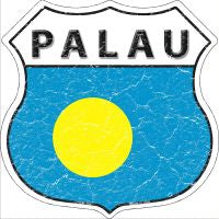 Palau Highway Shield Novelty Metal Magnet HSM-364