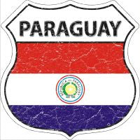 Paraguay Highway Shield Novelty Metal Magnet HSM-368