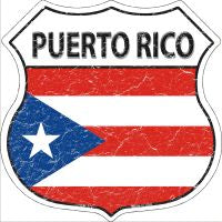 Puerto Rico Highway Shield Novelty Metal Magnet HSM-373