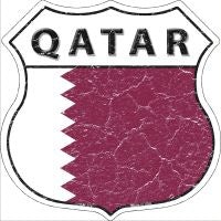 Qatar Highway Shield Novelty Metal Magnet HSM-374