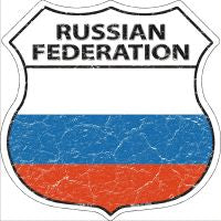 Russian Federation Highway Shield Novelty Metal Magnet HSM-377