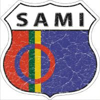 Sami Highway Shield Novelty Metal Magnet HSM-380