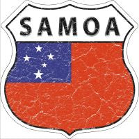 Samoa Highway Shield Novelty Metal Magnet HSM-381