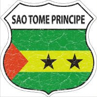 Sao Tome Principe Highway Shield Novelty Metal Magnet HSM-383