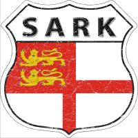 Sark Highway Shield Novelty Metal Magnet HSM-384