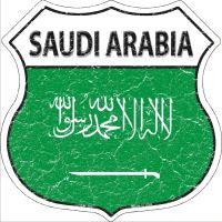 Saudi Arabia Highway Shield Novelty Metal Magnet HSM-385