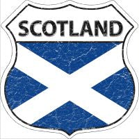 Scotland Highway Shield Novelty Metal Magnet HSM-386