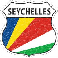 Seychelles Highway Shield Novelty Metal Magnet HSM-391