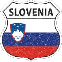Slovenia Highway Shield Novelty Metal Magnet HSM-396