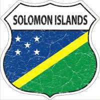 Solomon Islands Highway Shield Novelty Metal Magnet HSM-397