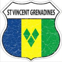 St Vincent Grenadines Highway Shield Novelty Metal Magnet HSM-409