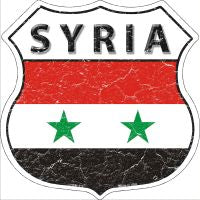 Syria Highway Shield Novelty Metal Magnet HSM-415