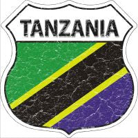 Tanzania Highway Shield Novelty Metal Magnet HSM-419